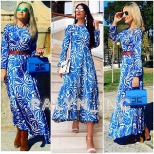 ZARA long printed dress maxi